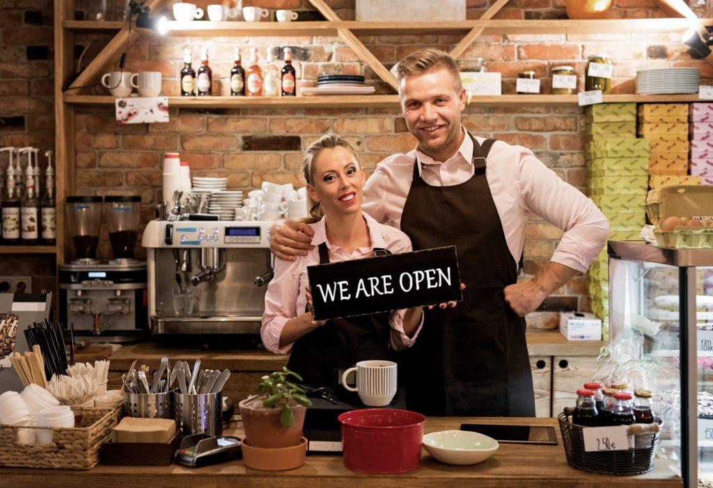 restaurant owners in kitchen